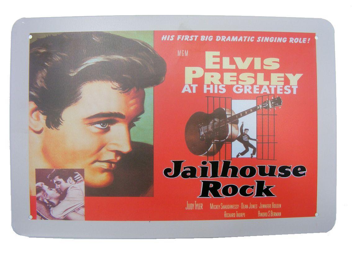 Elvis Presley Metalowy Szyld Retro Plakat