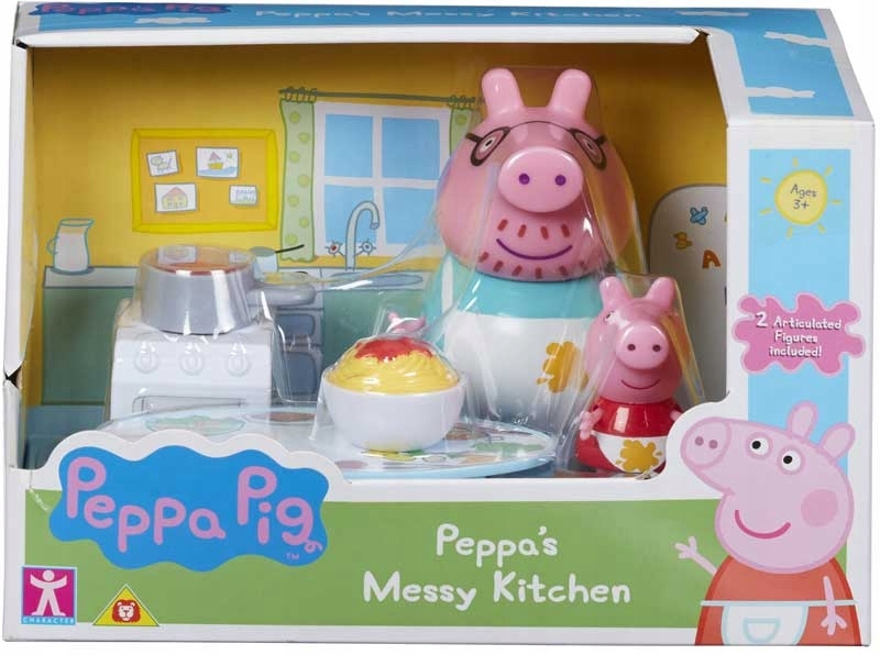 świnka Peppa Figurka Tata świnka Kuchnia Zestaw